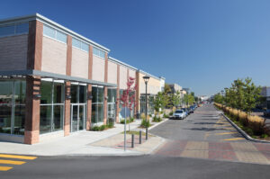 photo of a modern commercial area
